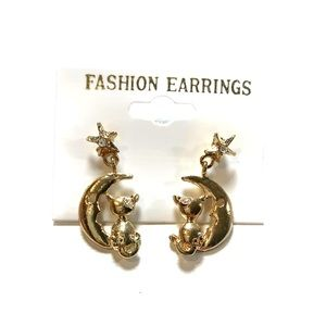Jewelry - Cat On Moon Earrings New With Tags Bundle And SAVE